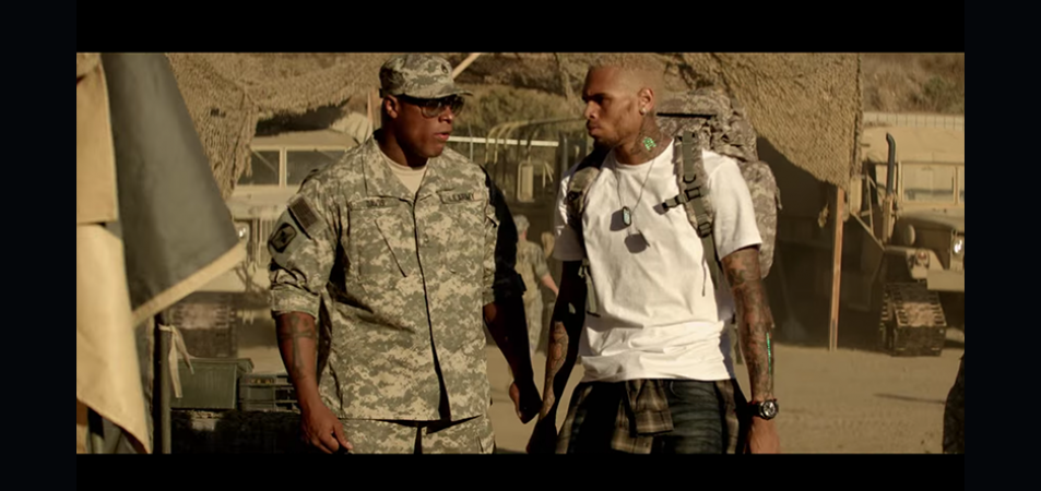 "Thai Edwards plays Master Sergeant Davis in Chris Brown's ""Don't Judge Me"" Music video where the singer pleads with his love interest not to judge him based on rumors about his cheating ways."